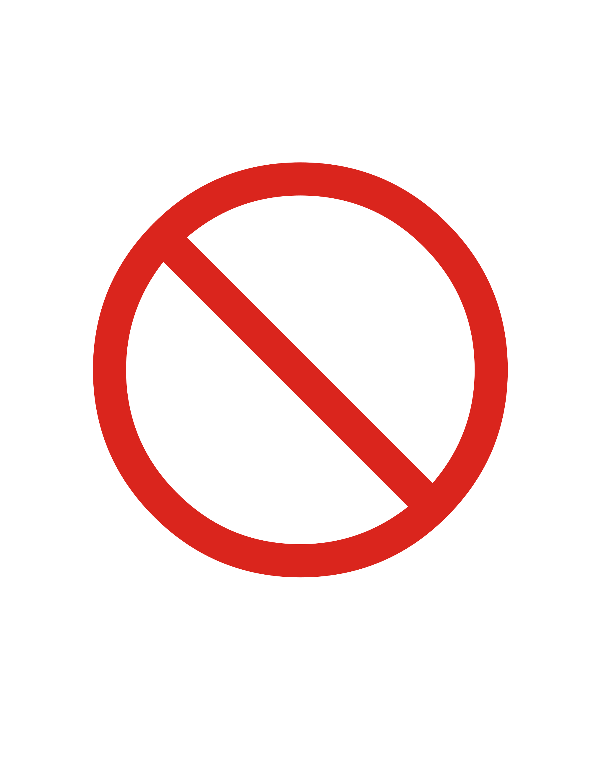 Prohibited Sign.