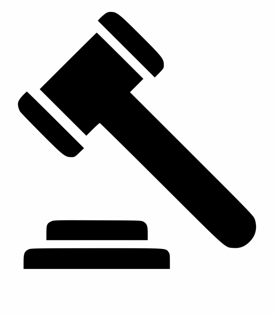 Law Gavel Comments Gavel Logo Vector.