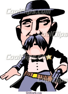 Cartoon lawman Clip Art.