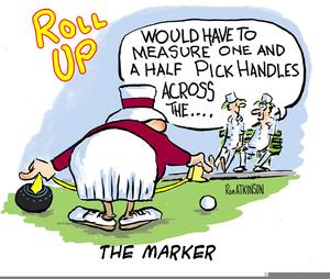 Lawn Bowls Cartoon Clipart.