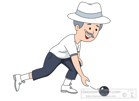 Lawn Bowling Clipart.