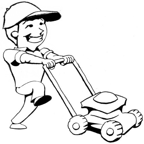Free Lawn Mower Clipart Black And White, Download Free Clip.