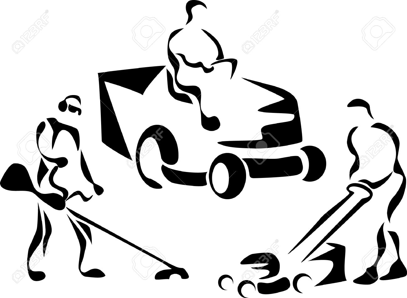 736 Lawn Mower free clipart.