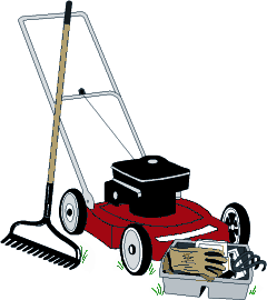 gardener with his lawnmower clipartby drawshop302317 garden.