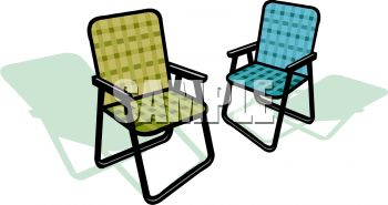 A Couple Of Lawn Chairs.