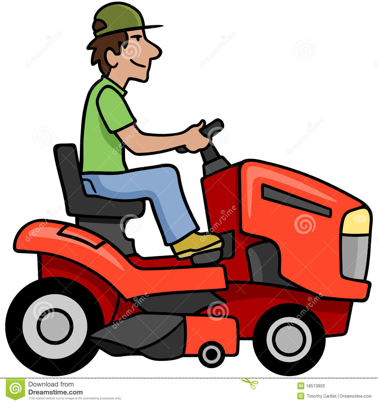 Cartoon lawn mower clipart 6 » Clipart Station.
