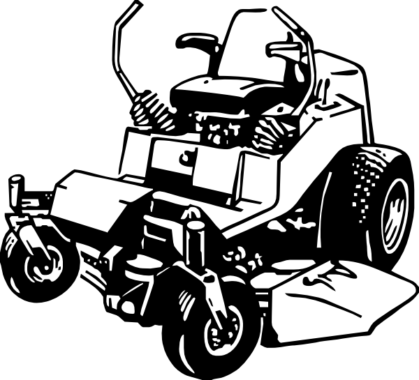 Zero Turn Mower Clipart.