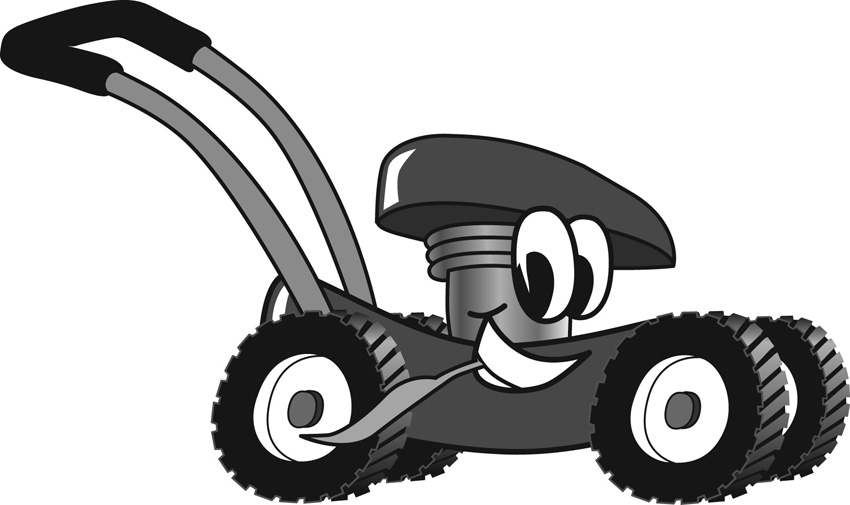 Funny Lawn Mower Clipart.