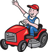 Riding lawn mower clipart free.