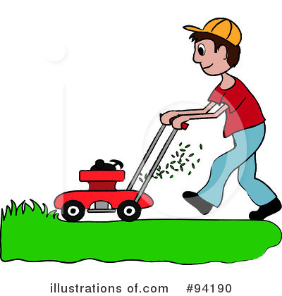 Lawn Mowing Clipart #94197.