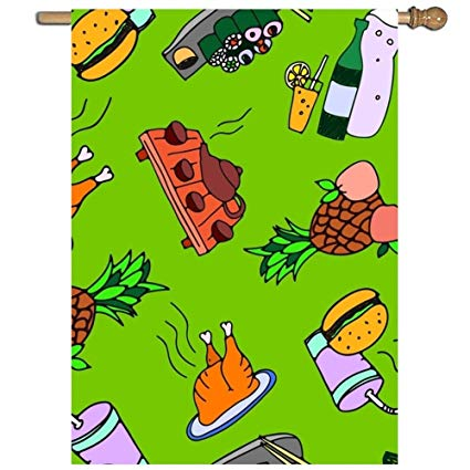 Amazon.com : Jagfhhs Garden Flag Pineapples Meat Lawn Party.