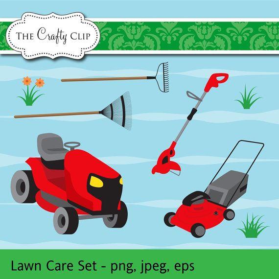 HALF PRICE SALE Lawn Mower Clip Art Set by TheCraftyClip on.