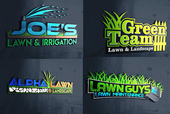 design professional landscape and lawn care service logo.