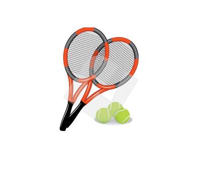 Lawn Tennis Inventory Vector Clip Art.