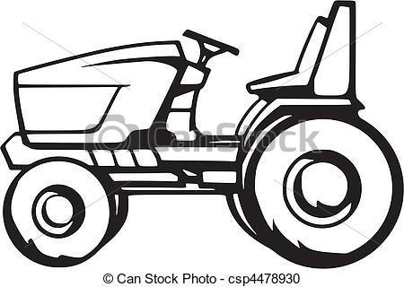Lawn tractor clipart 3 » Clipart Portal.