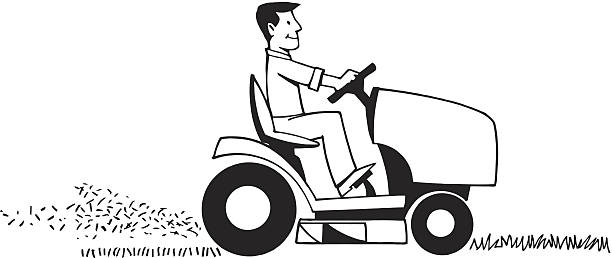 Best Riding Lawn Mower Illustrations, Royalty.