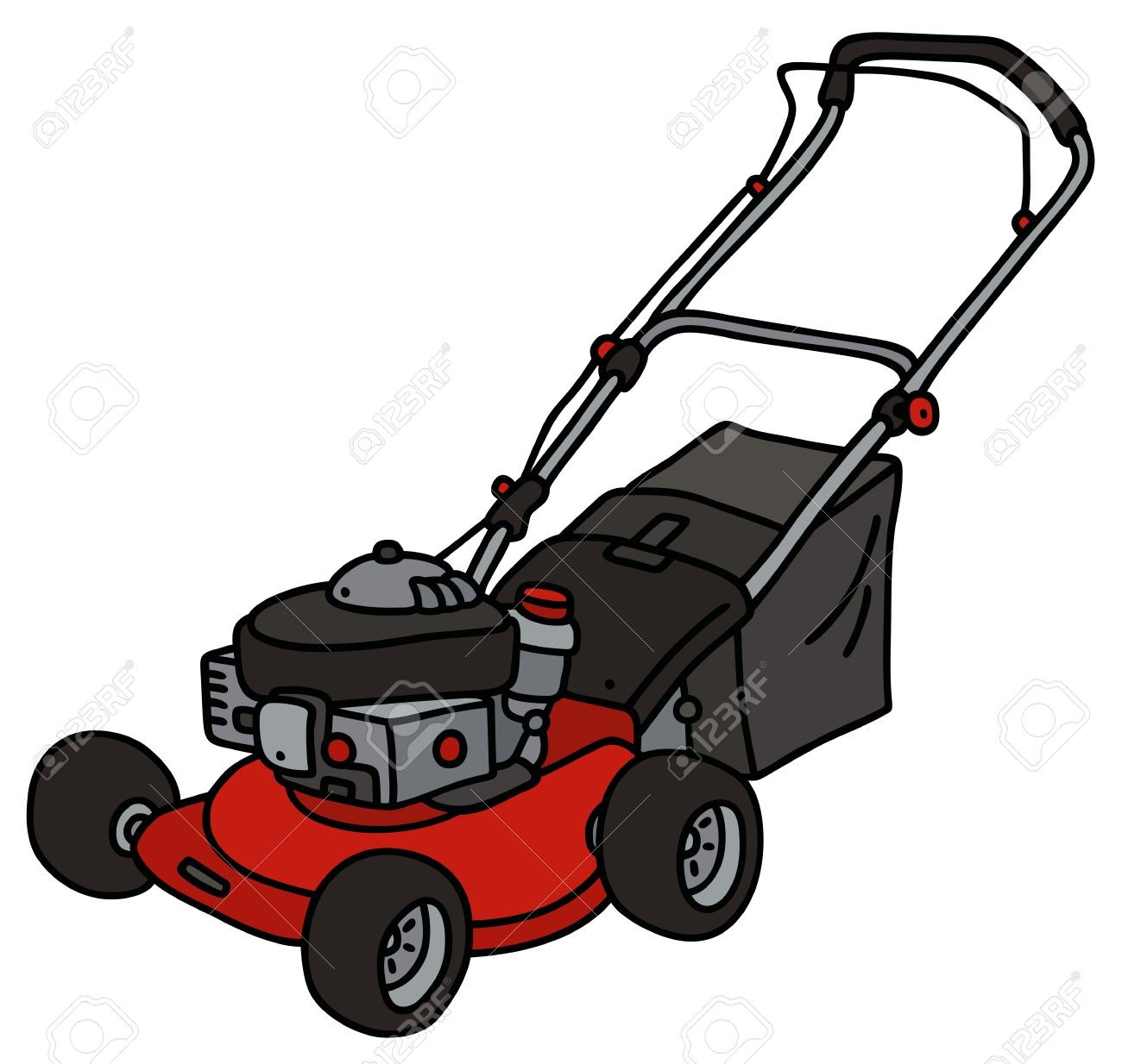 Lawnmower clipart lawn work, Lawnmower lawn work Transparent.