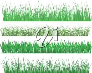 Royalty Free Clip Art Image: Various Types of Lawns Or Grasses.