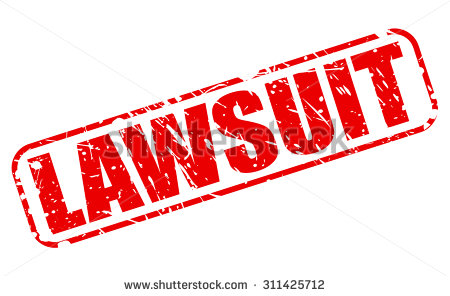 Lawsuit Red Stamp Text On White Stock Vector Illustration.