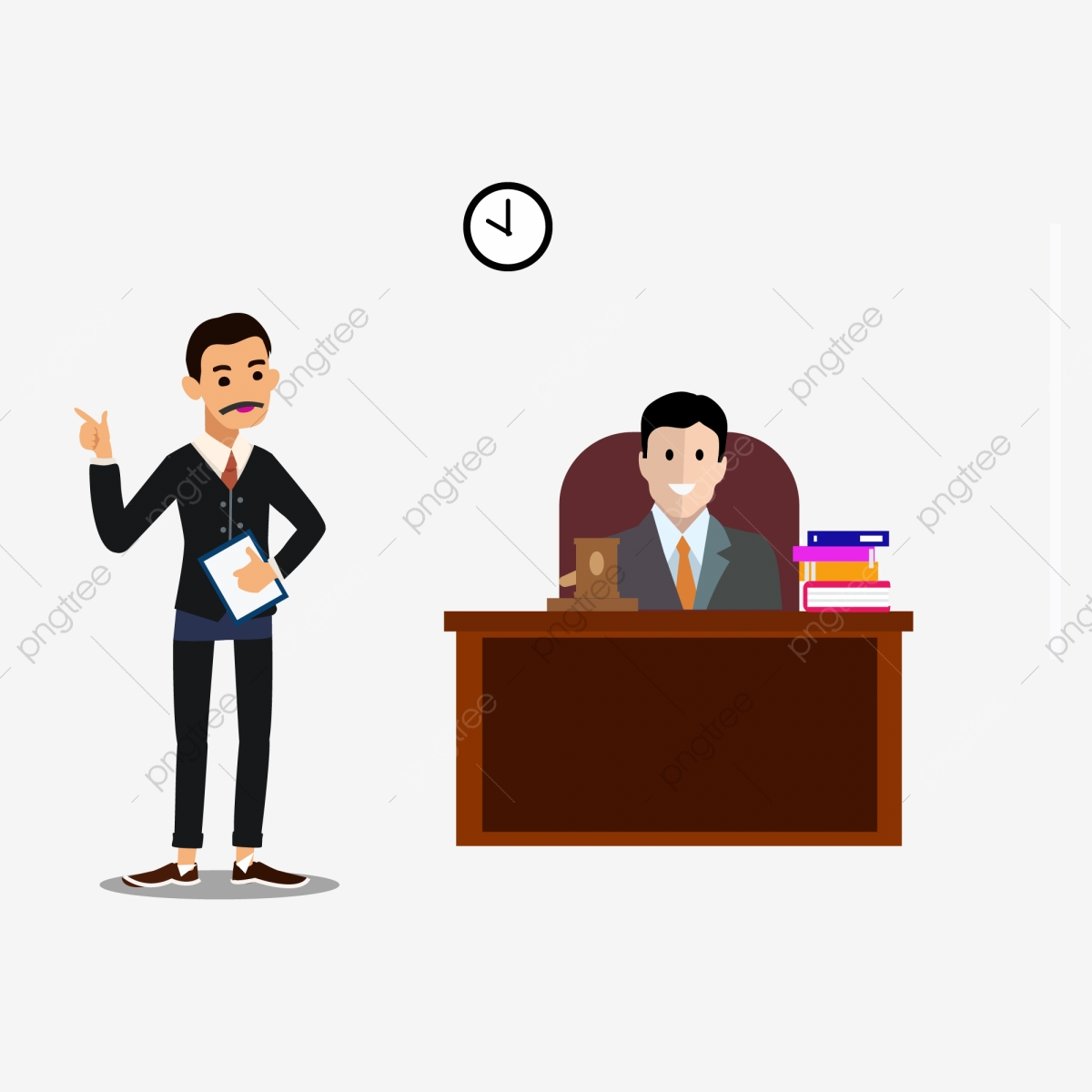 Cartoon Lawyer Illustration Design, Cartoon, Lawyer.