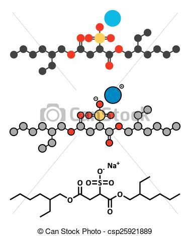 Vector of Docusate sodium (dioctyl sodium sulfosuccinate) stool.