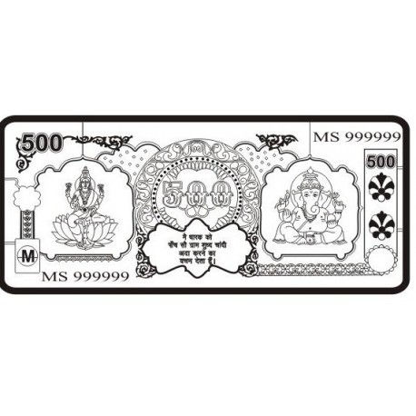 Buy Laxmi Ganesh Silver Note of 500 Gram in 999 Purity Online at Low Price  in India Today.