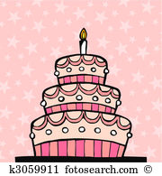Layer cake Clip Art EPS Images. 512 layer cake clipart vector.