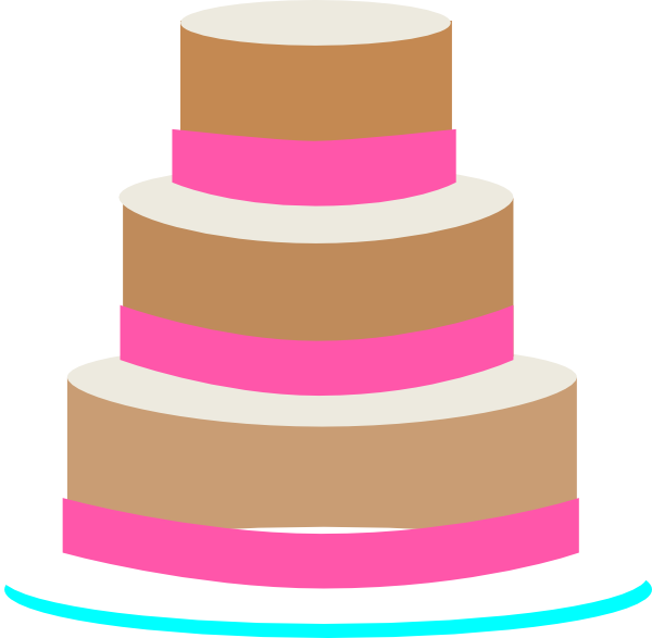 Clip Art Birthday Cake 3 Layers Clipart.