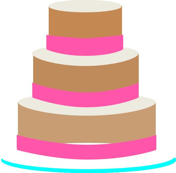 Clip Art Birthday Cake 3 Layers Clipart.