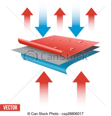 Vector Clip Art of Technical illustration of a three.