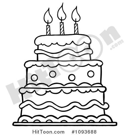 Layered Vanilla Cake Clipart.
