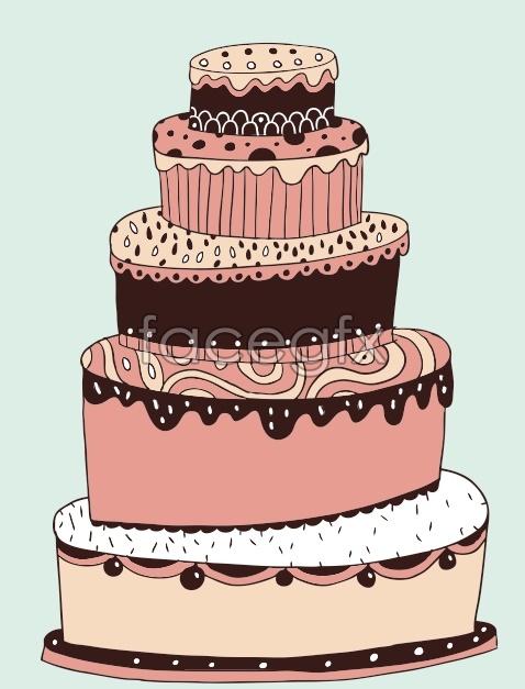Birthday Cake Black And White Drawing