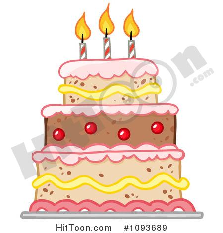 Birthday Cake Clipart #1093689: Layered Birthday Cake with Three.