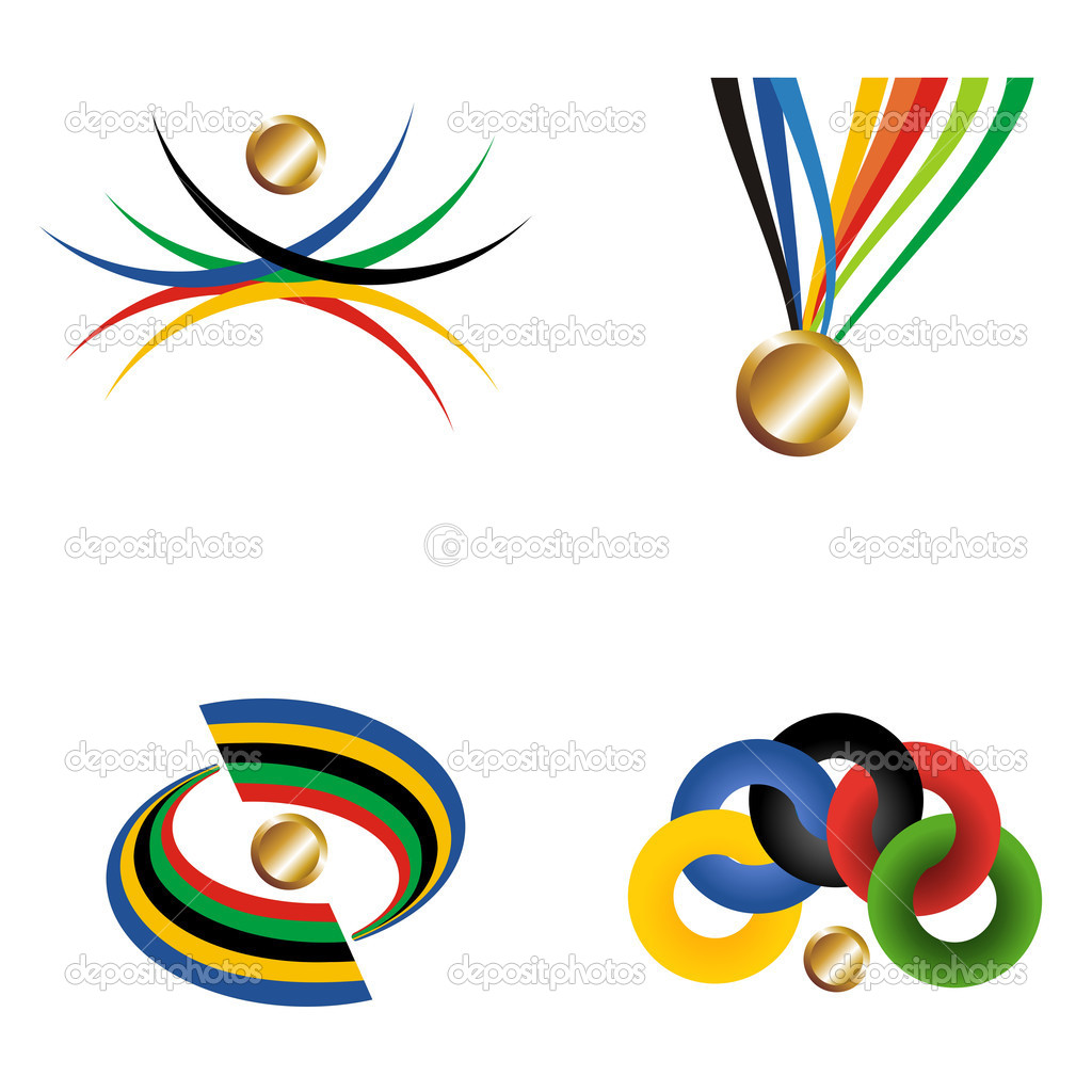 Gold medal with ribbon. Vector file layered for easy manipulatio.