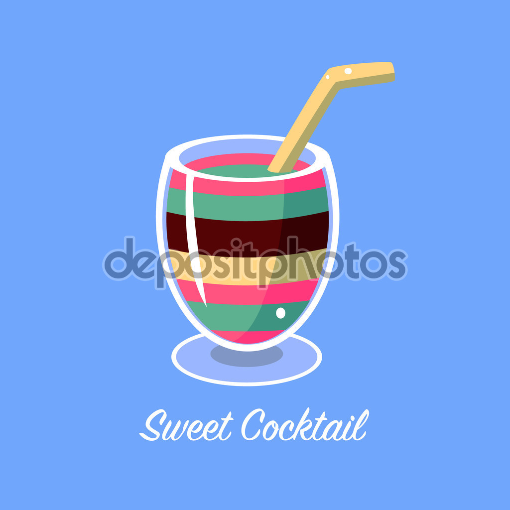 Many Layers Cocktail — Stock Vector © TopVectors #106039200.