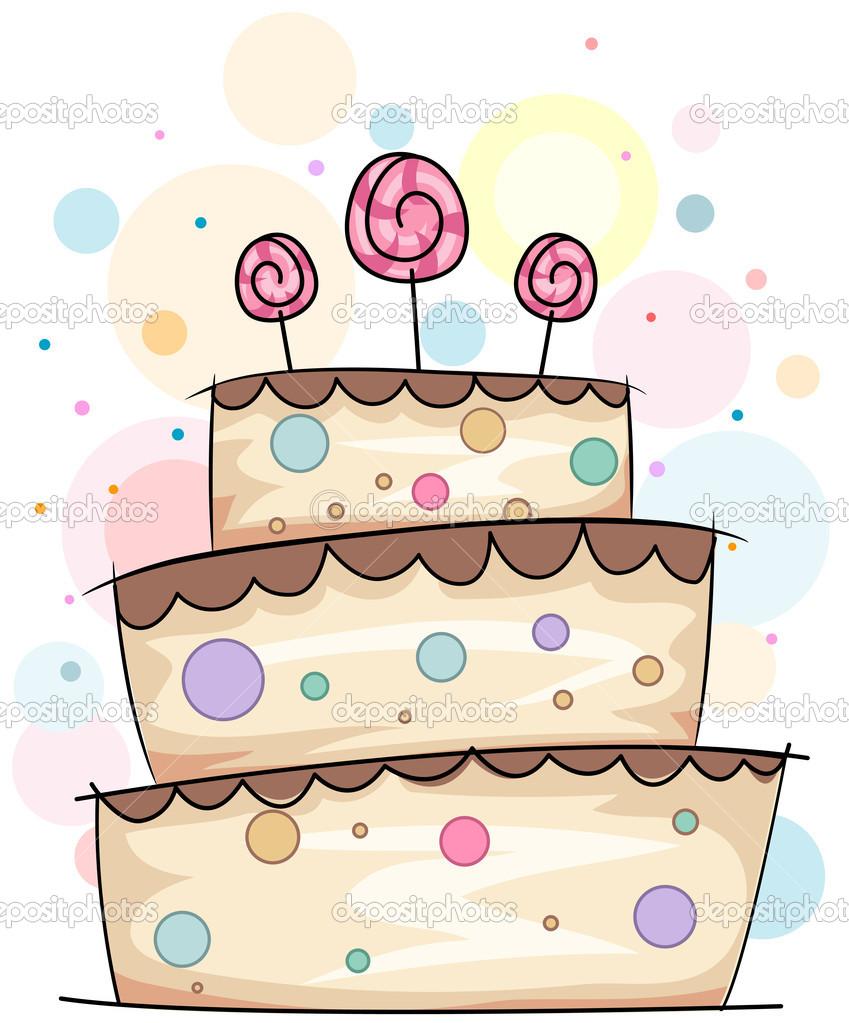 Cake Doodle — Stock Photo © lenmdp #7600379.