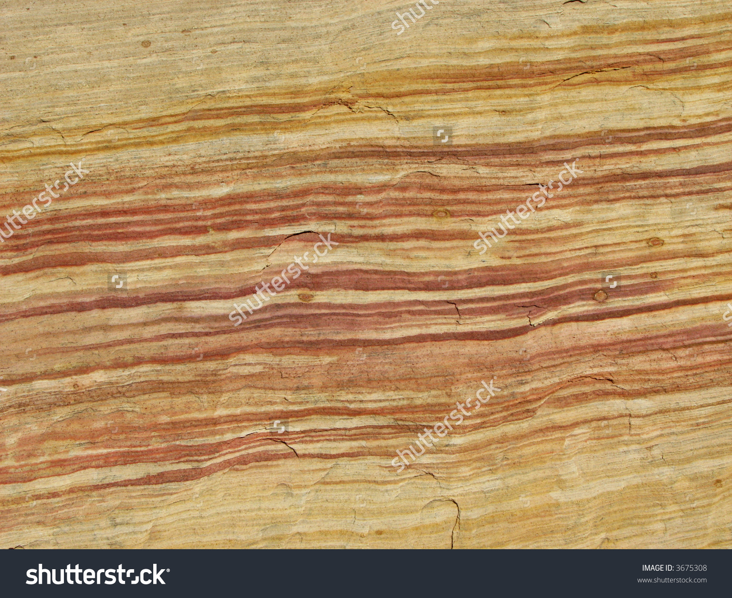 Colored Sandstone Bedding Layers On Rock Stock Photo 3675308.