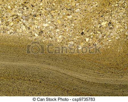 Stock Photos of Smooth surface of layered sandstone sediment rock.