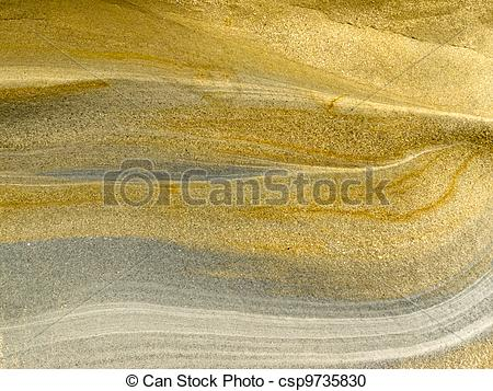 Stock Photography of Smooth surface of layered sandstone sediment.