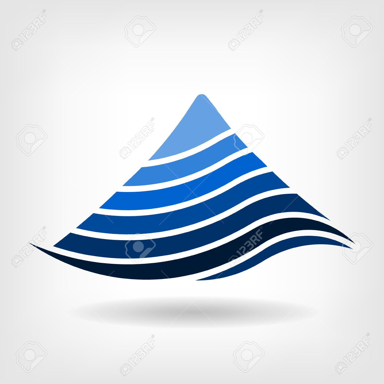 Layering Mountain Vector Icon Royalty Free Cliparts, Vectors, And.