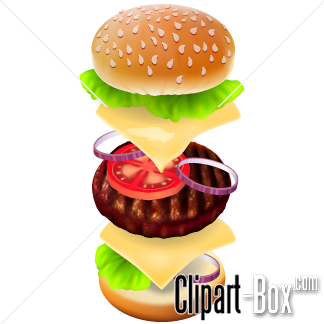 CLIPART BURGER LAYERS.