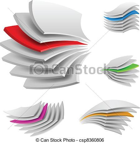Clip Art Vector of Multi layers.