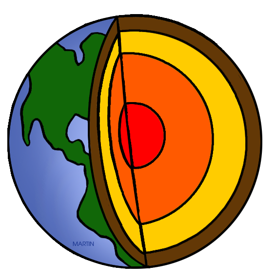 Free Earth Science / Geology Clip Art by Phillip Martin, Layers of.