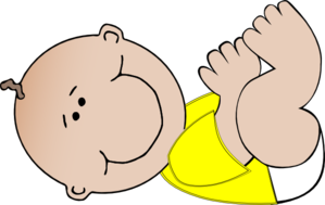 Neutral Baby Lying Down Clip Art at Clker.com.