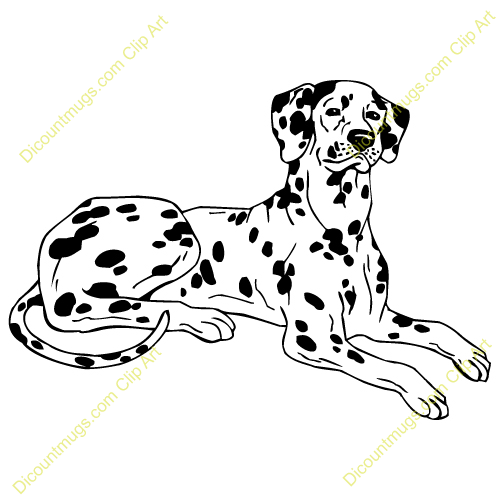 Clipart dog laying down.