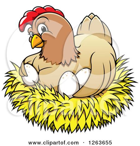 Happy hen clipart.