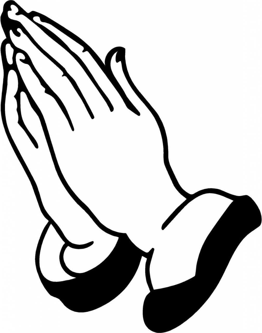 Laying on of hands clipart.