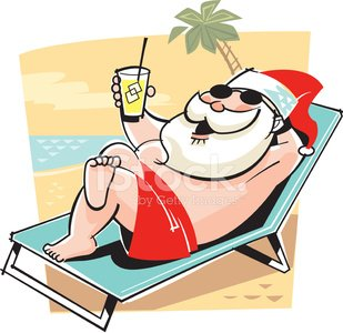 Santa Beach Chair C Clipart Image.