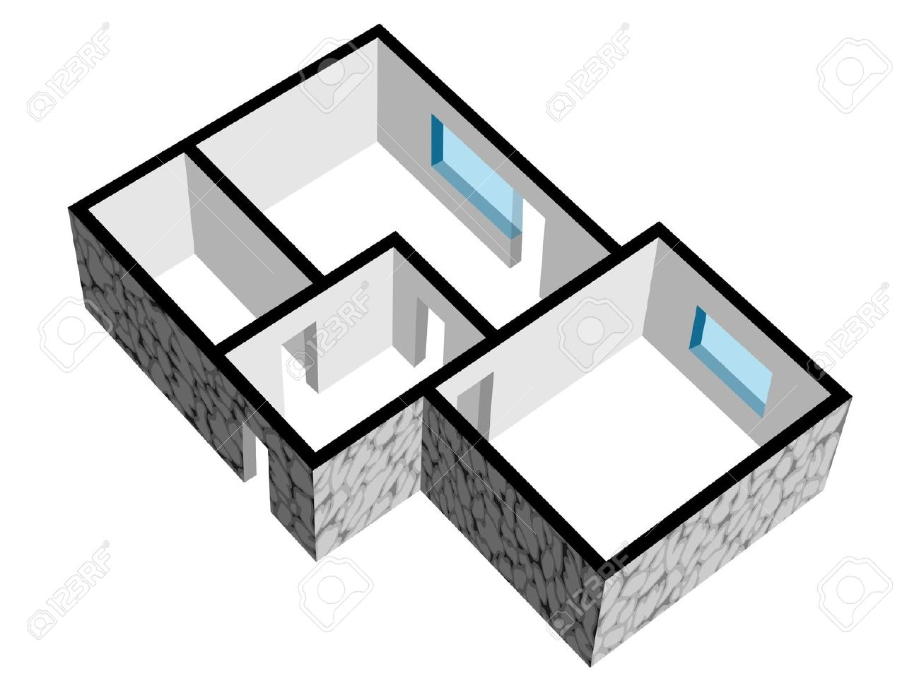 Room layout clipart.