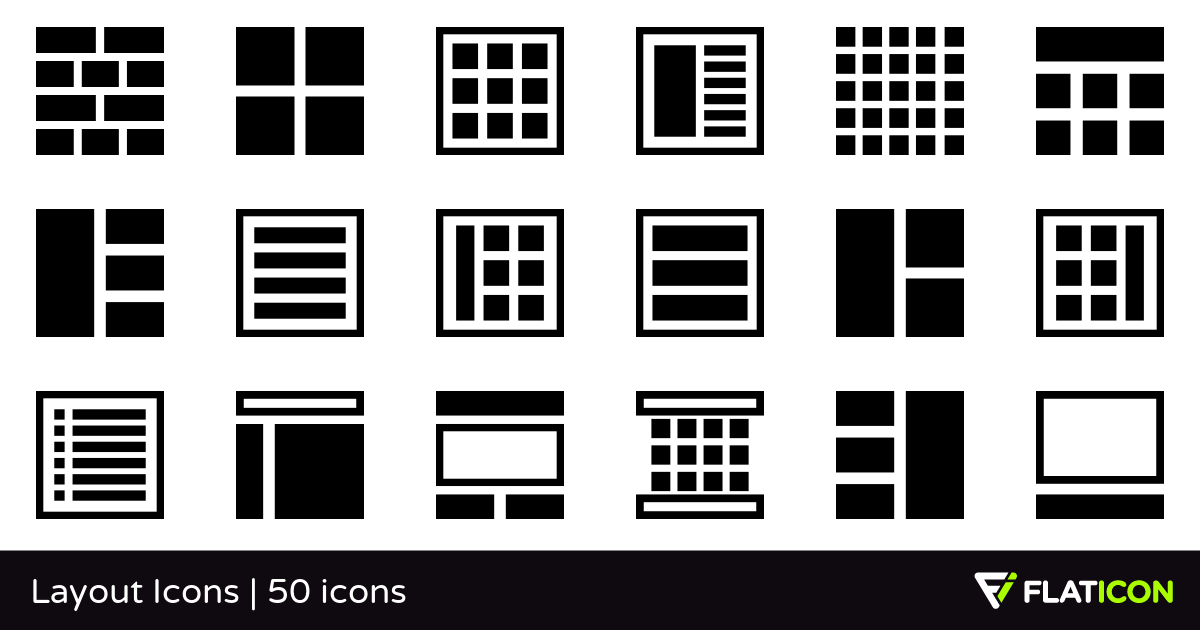 Layout Icons 50 free icons (SVG, EPS, PSD, PNG files).